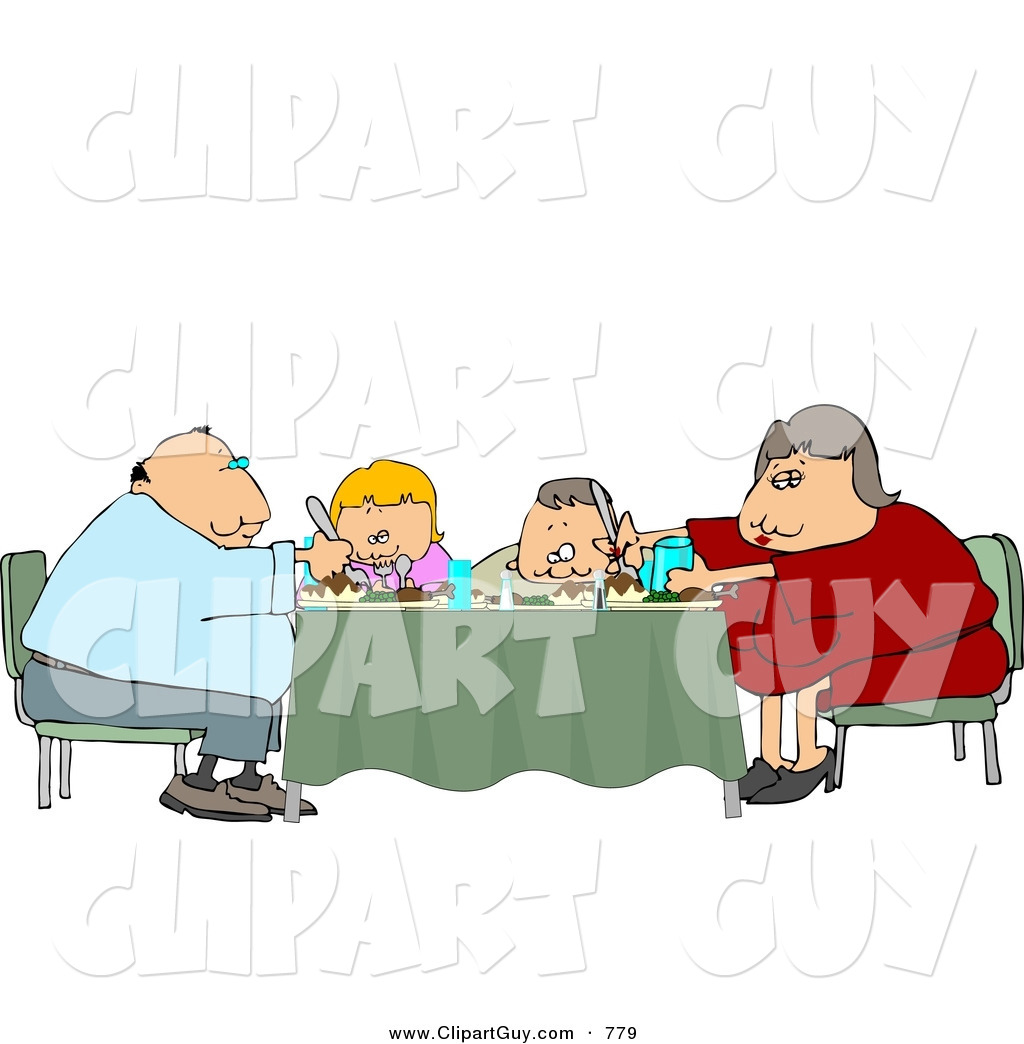 clipart family dinner table - photo #37