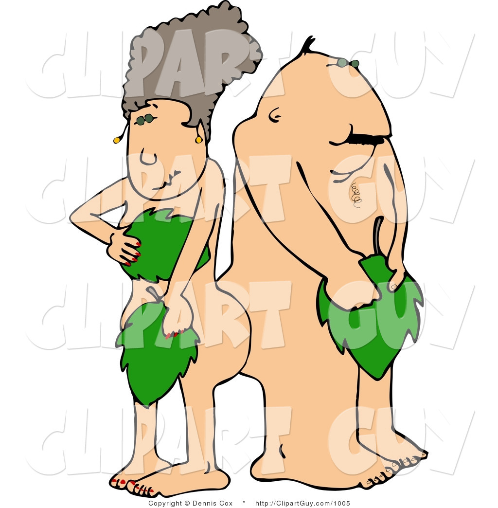 Drawings of adam and eve nude