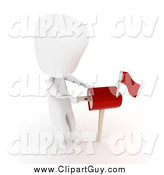 Clip Art of a 3d White Person Inserting a Love Letter in a Heart Mail Box by BNP Design Studio