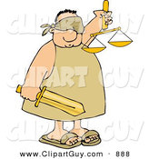 Clip Art of a Blind Justice Man by Djart