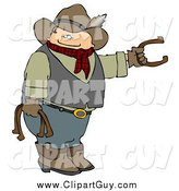 Clip Art of a Cowboy Playing Horseshoes by Djart