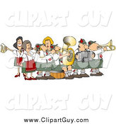 Clip Art of a Festive Oktoberfest Band by Djart