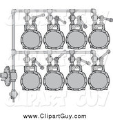Clip Art of a Gas Meter Header by Djart