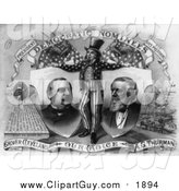Clip Art of a Grayscale Uncle Sam, Grover Cleveland and A.G. Thurman by JVPD