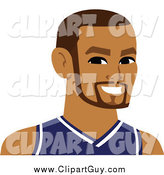 Clip Art of a Handsome Male Avatar Wearing a Jersey by Monica