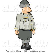 Clip Art of a Military 5 Star General Standing at Attention by Djart