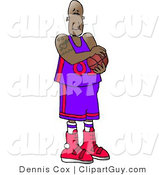 Clip Art of a Professional Black Basketball Player by Djart