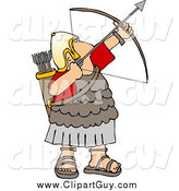 October 26th, 2014: Clip Art of a Roman Army Soldier Shooting a Bow and Arrow Upwards by Djart