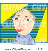 December 11th, 2013: Clip Art of ABusinessman over a Green and Yellow Background by Prawny
