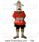 Clip Art of ARoyal Canadian Mounted Police (RCMP) Officer, on White by Djart