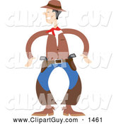 November 29th, 2013: Clip Art of AWestern Cowboy Ready to Draw His Guns by Prawny