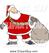 Clip Art of Santa Carrying a Sack by Djart