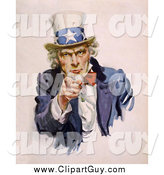 Clip Art of Uncle Sam Pointing His Finger by JVPD