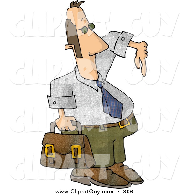 Clip Art of a Homie G Businessman Carrying a Briefcase and Gesturing Wazzup with His Hand on White