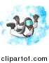 Clip Art of a Male Skydiver Falling from the Sky by Djart