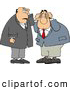 Clip Art of a Pair of Businessmen Thinking About Something by Djart