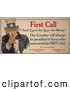 Clip Art of AFirst Call I Need You in the Navy This Minute Uncle Sam by JVPD