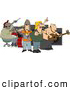 Clip Art of AGarage Rock Band Playing Music by Djart