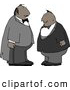 Clip Art of Two Men Wearing Tuxedos Together at a Wedding by Djart