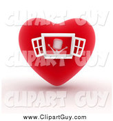 Clip Art of a 3d White Person in a Heart House by BNP Design Studio