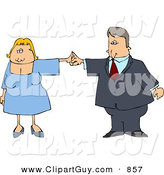 Clip Art of a Business Couple Dancing Together on White by Djart