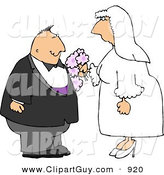 Clip Art of a Happy Man and Woman Getting Married to Each OtherHappy Man and Woman Getting Married to Each Other by Djart