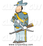 Clip Art of a Union Soldier with a Sword and Rifle by Djart