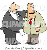 Clip Art of Business Partners Standing Together, One Clapping the Other on the Back by Djart