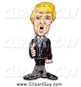 Clip Art of Mr Trump Standing and Pointing, Yelling and Firing People by Spanky Art