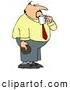 Clip Art of ABoring Obese Businessman on His Coffee & Donut Break by Djart